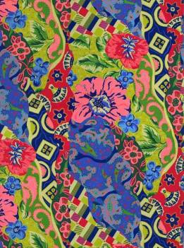 Vintage Textile Design with Scarves - Here I have been playing with patterns, curves and geometric shapes together with floral images. The objects and patterns produced compliment each other.