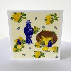 Lemons and Limes Greetings Card