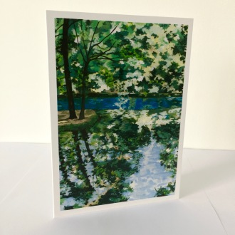 Fontaine-Bleu No.2 Greetings Card