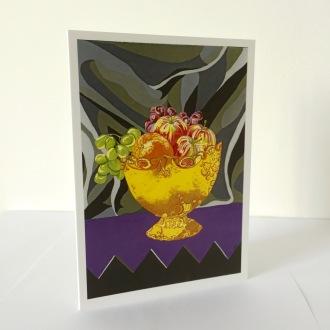 Funky Fruit Bowl Greetings Card
